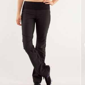 lululemon black Run Bold in the Cold pants